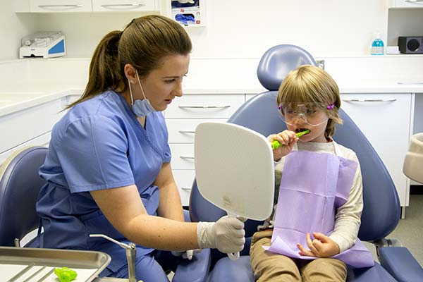 our dental hygienist at work