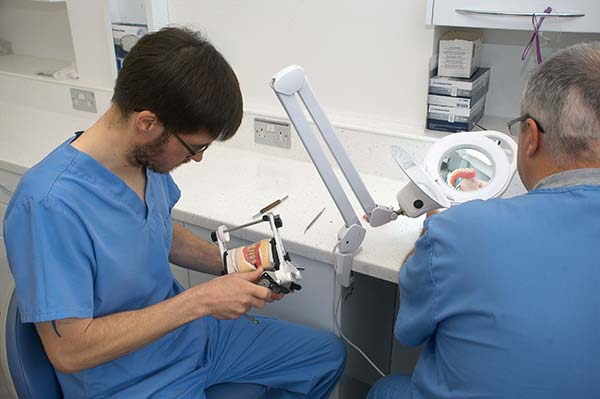 denture technicians at work