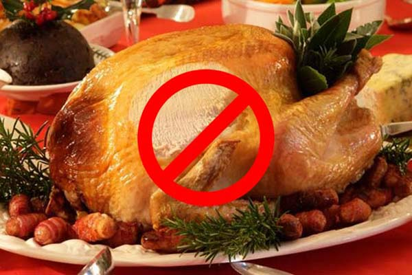 Fixing denture problems for Christmas- roast turkey